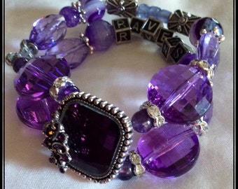 BALTIMORE RAVENS Inspired Jewelry Bracelets