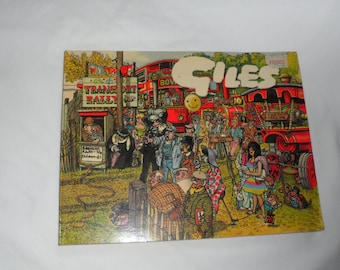 2 Vintage GILES/Adult Comic Books/Life n Times in Adult Comic Form/Originated from Great Britain/Popular British Humor in Comic Form Books