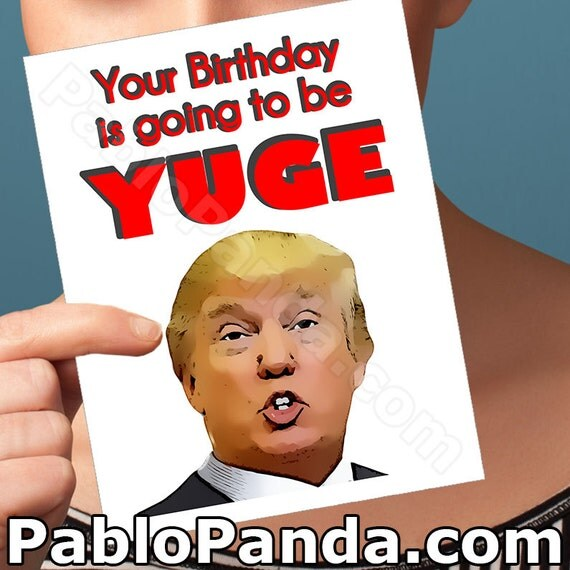 Amazon Com Funny Birthday Card Donald Trump Birthday: Items Similar To 21th Birthday Card
