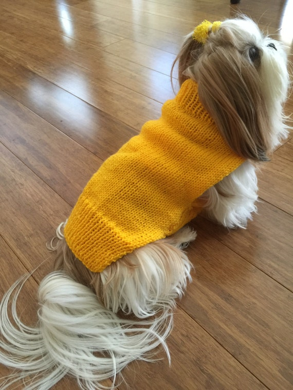 yellow Dog Coat knitting pattern in PDF instant download version from Superlu...