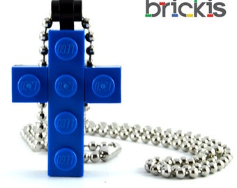 Cross made with LEGO® bricks for First holy Communion day or 1st Communion