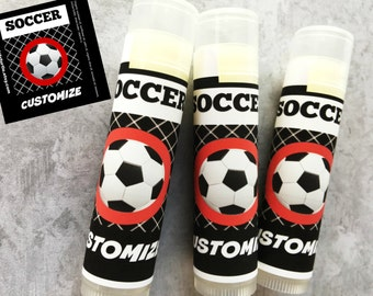 5 Pc Soccer Party Favors/Soccer Boy Party Favors/Soccer Party Favors/Boy Birthday Party/Lip Balm/Soccer Chapstick/Party Favor/Gift Bags