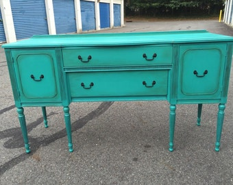 SOLD to Danielle-Vintage Mahogany Buffet Credenza