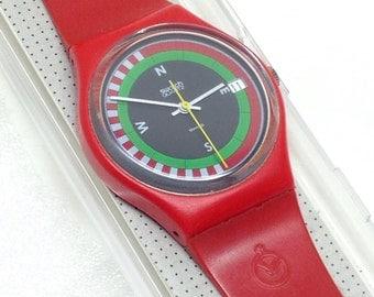 Vintage Swatch Watch Compass GR400 1984 Rare FHL Fachhandellogo