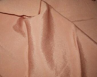 Vintage Pink Rayon Crinkle Cloth Fabric Yardage Unused 1930's to 1950's Era