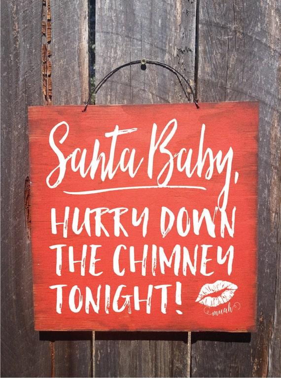 christmas decoration, christmas decor, christmas sign, santa baby, santa baby sign, santa baby decoration, santa baby wall art