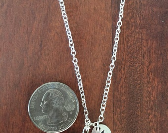 Ball of yarn initial necklace, knitting necklace, gift for knitter, yarn necklace, knitting jewelry, yarn jewelry, silver knitting