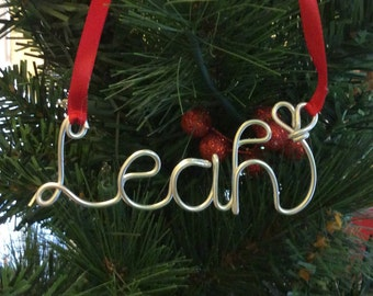 Christmas Personalized ornament,Leah ornament