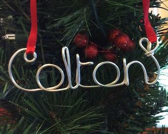 Personalized wire name ornament,Colton ornament