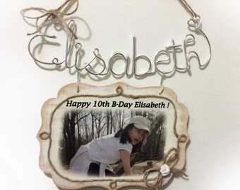 Elisabeth wall decor name& frame