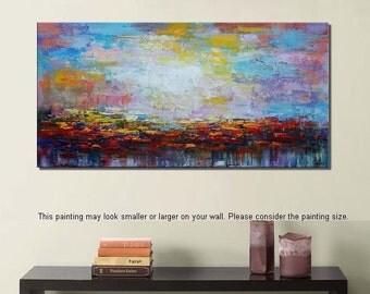Abstract Painting, Original Oil Painting, Canvas Art, Landscape Painting, Large Painting, Abstract Art, Impasto Art, Wall Art, Large Art