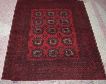 Size-6x4'11ft Nice Turkomen nomadic rug, tribal rug, hand knotted rug
