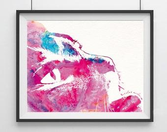 Cat Art Print, Cat wall art print,Pink Cat, Cat Wall Art, Wall Hanging, Digital Print, Giclee Print, Cat, Art Poster-38