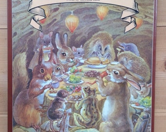 The Hedgehog Feast, Illustrated by Edith Holden - Vintage Children's Book