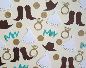 Country Chic Wedding, Country Confetti, Country Wedding, Wedding Confetti, Country Chic, Country Chic Decor, Western Decor, Country Party