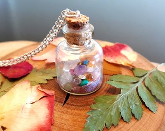 Fairy Treasure Potion Bottle Charm Necklace, Lost Things, Fairy Necklace, Once Upon A Time,  Glitter Dust Bottle Necklace