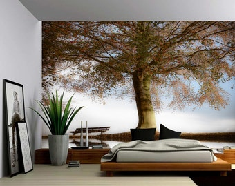 Blossom Tree of Life - Large Wall Mural, Self-adhesive Vinyl Wallpaper, Peel & Stick fabric wall decal