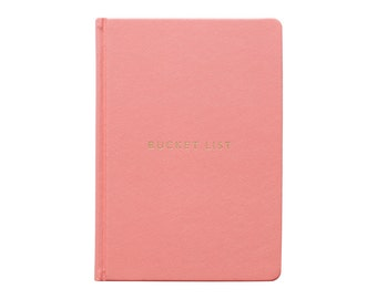 Bucket List Journal - A5 Hard Cover Coral - Live your dreams