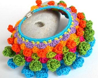 SALE, mexican bracelet, statement festival bracelet, big bold chunky bracelet, large ethnic bracelet, colorful ethnic cuff, hippie bracelet