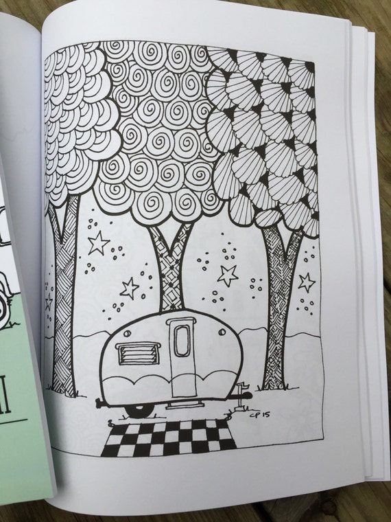 SALE Coloring Book Color Me A Happy Camper II Old Version