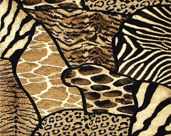 Animal Print Coasters Zebra Tiger Giraffe Leopard  Home Decor    Set of 4  US Free Shipping