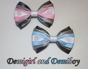 Demigirl and Demiboy Pride Bow