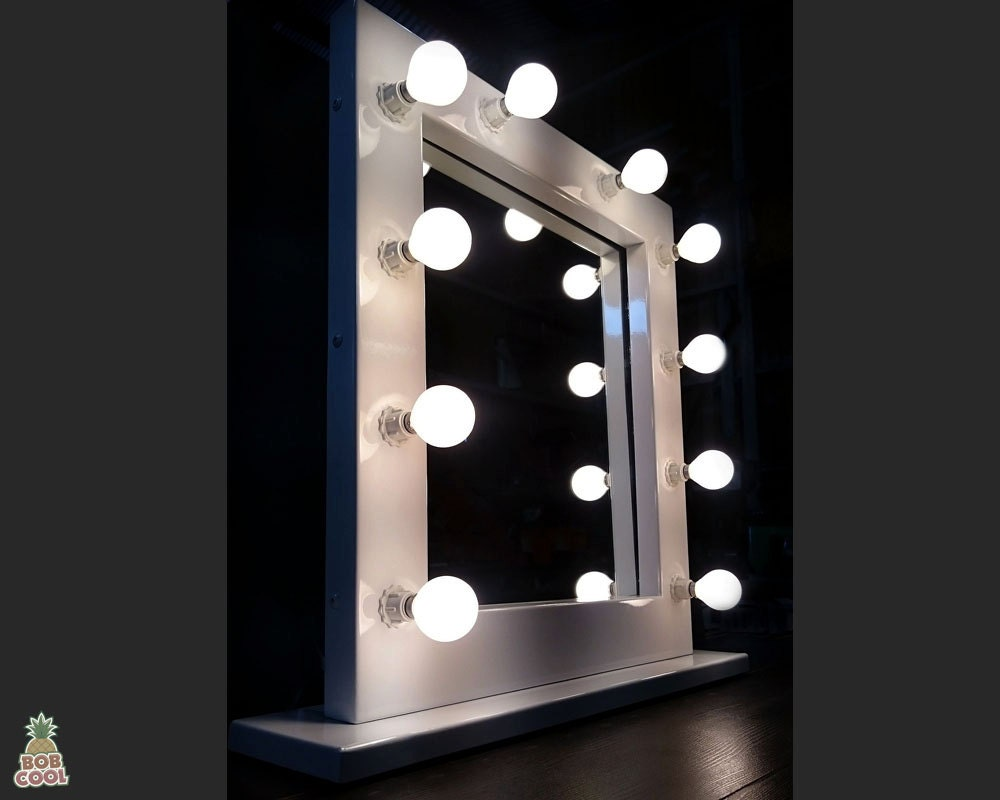 58 x 50 cm verlicht light up hollywood stijl kaptafel make up. Black Bedroom Furniture Sets. Home Design Ideas