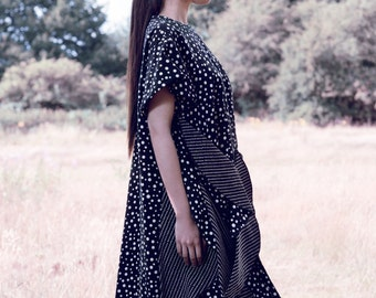 Oversized Circle Hem T-Shirt Dress with Drape (Code:GC3)