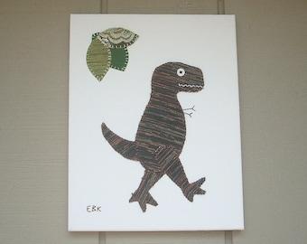 T-Rex #5 Fabric Wall Art