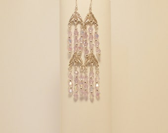 Swarovski Crystal Chandelier earrings with tibetan silver connectors for dangling earrings