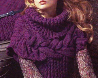 "CROCHET PATTERN!!! Short sweater with slash ""lilac"""
