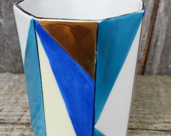 Noritake hand painted pencil holder