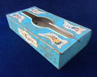 Baret ware vintage tin tissue dispenser made in England