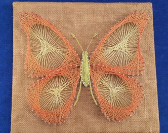 vintage thread art butterfly