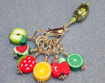 Snag Free Love Fruit Stitch Markers and Holder (Set of 6) (0028) (0029)