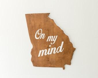 Georgia on my mind wood cutout