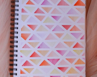 Geometric Triangles Watercolour