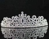 Gorgeous Bridal Tiara Rhodium Plated