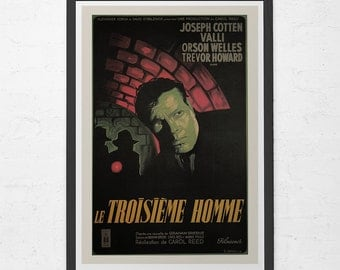 CLASSIC MOVIE POSTER - The Third Man Movie Poster - Orson Wells Movie Poster, Home Decor Wall Art
