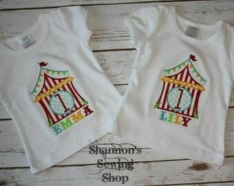 Circus Themed Birthday Shirt