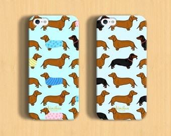 Dachshund iPhone Case- iPhone 6 Case- iPhone 6 Plus Case - Dog iPhone Case- iPhone 7 Case- iPhone 5C Case - Samsung Case-2 in 1 Case-S6 Case