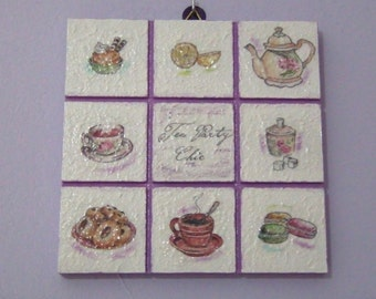 "Decorative plaque ""tea time"""