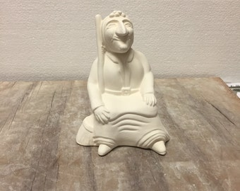 Ceramic Bisque Sitting Witch Ready to Paint