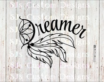 Dreamer Decal, Dreamer Car Decal, Hippie Car Decal, Hippie Decal, Naturalist Decal, Hippie, Decal, Dreamer, Outdoor Decal, Dream decals