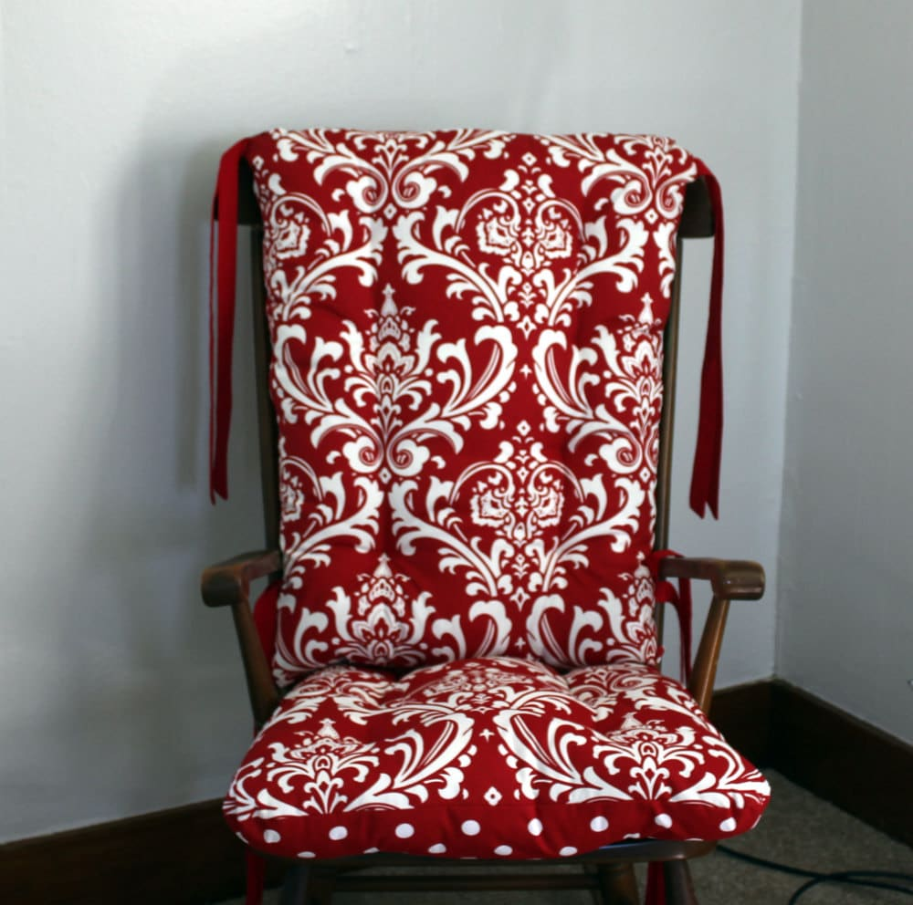 Ozborne Damask Rocking Chair Cushions Rocking Chair Pads