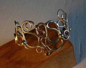 Sterling Silver Vine Cuff Bracelet