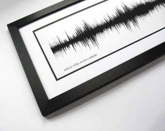 Hold You In My Arms - Music Sound Wave Canvas Wall Art