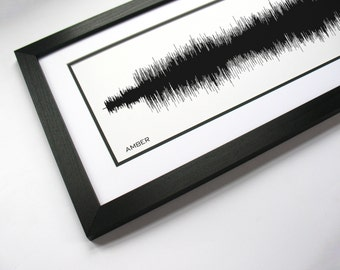Amber -  Sound Wave Music Poster, Song Art Print