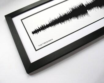 The Freshmen - Music Sound Wave Art - 1990's Rock Band Art