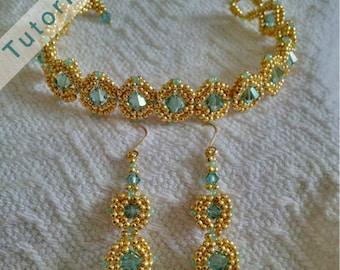 Nestled Gems Bracelet and Earring Tutorial